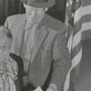 Mrs. A. A. Trivette and son T. G. Trivette voting, 1956.
