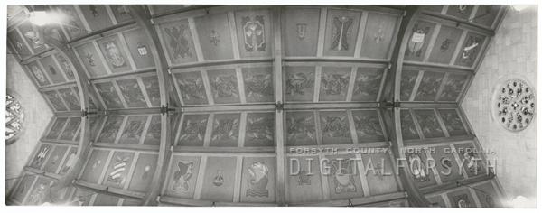 Ceiling of Davis Chapel at the Baptist Hospital, 1957.