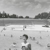 Jane Carol Hester at Tanglewood Park swimming pool, 1955.