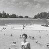Jane Carol Hester at Tanglewood Park swimming pool, 1955.