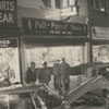 Cars on display in the 400 block of North Trade Street, 1958.