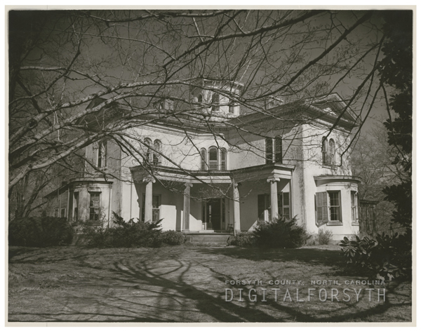 Exterior photo of Cooleemee Plantation, 1949.