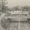 Interstate 40 looking east, toward the Spruce Street overpass, 1958.