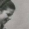 Beth Heckard with her dog Winkie, 1958.