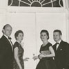 Tom Davis, unidentified, Nancy Davis, and Dr. Reid Bahnson, 1958.