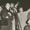 Onlookers watching Sputnik II, 1958.