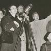 Onlookers watching Sputnik II, 1958.