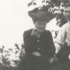 Blanche Thomas Sumner Hege (left) with two unidentifed people.