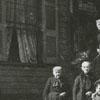 Unidentified, Hattie Butner Clemmons, sisters Sallie and Sophia Butner, Blanche Thomas Sumner Hege, and Mrs. Hege's sons Tom and J. C. Sumner, 1907.