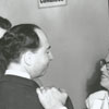 Scott-Blackwell political campaign, 1958.  Winfield Blackwell is at the left.