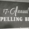 Spelling Bee participants Vann Hyatt and Roger W. Lewis, Jr., 1957.