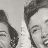 Patricia Simons crowns Connie Elizabeth Hobby Dairy Princess for 1957-1958.