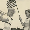 James Clarence Sebastian and Karlynn Morgan celebrate Independence Day, 1957.