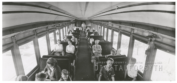 Train excursion (Norfolk and Western) to West Jefferson, 1957.