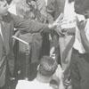 John Kaspar, segregationist, talking at courthouse square, 1957.