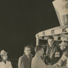 Jaycees dispensing hot beverages and snacks to travelers, 1957.