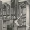 D. A. Flentrop and Symon Doot, building an organ at Salem College, 1957.