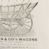 Advertisement for George E. Nissen and Company's Wagon Works.