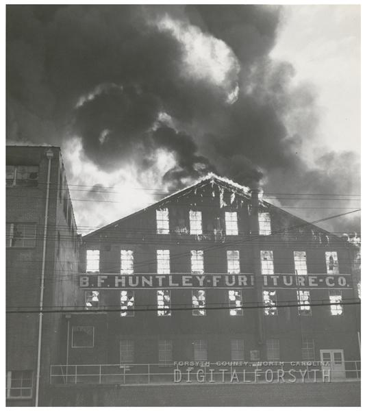 B. F. Huntley Furniture Company Fire, 1956.