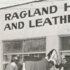 The horse is being moved from Pleasants Hardware, on the corner of Trade and Sixth, 1956.