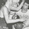 Mount Airy High School and Mineral Springs High School basketball game, 1956.