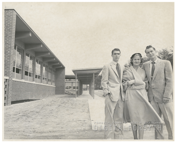 Gerald, Sue, and Jack Ibraham, 1956.