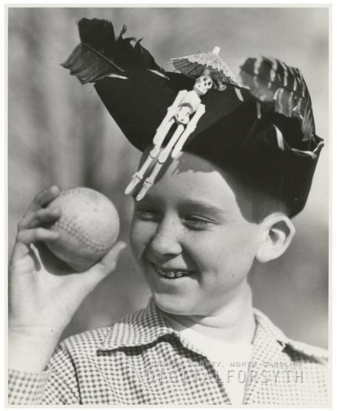 Jimmy James, playing baseball, 1956.