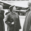 Unidentified, Mary Margaret Johnson, Ambassador Wilhelm Morgenstierne, and Mayor Marshall Kurfees, 1956.