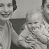 Jane Pepper Masich and husband, Anthony Masich, with twin sons David and Mark, 1956.