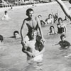 Mary Lou Posey at Reynolds Park pool, 1956.