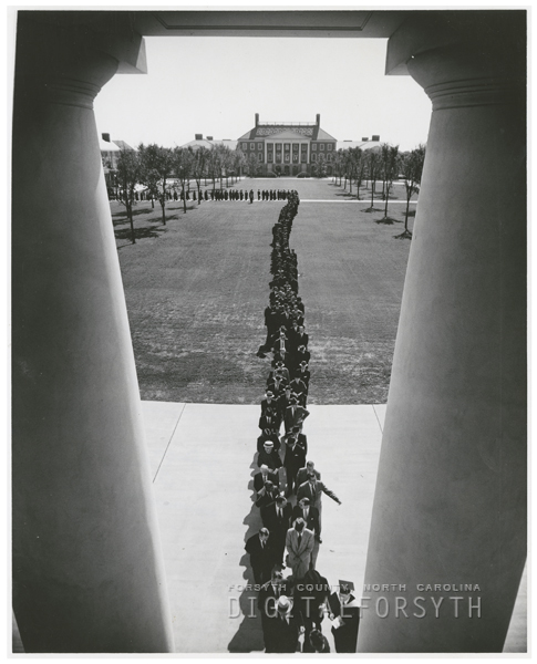 Wake Forest College dedication, 1956.