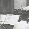 John Iuele conducting a practice of the Winston-Salem Symphony, 1956.