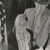 Mrs. Adeline Trivette, voting with her son, Thomas G. Trivette, 1956.