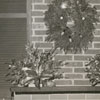 Thomas C. Hauser house with Christmas decorations at 1632 Reynolda Road, 1956.