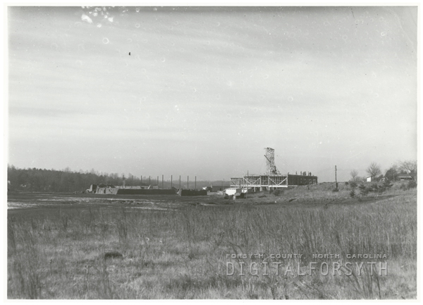 Mineral Springs High School construction site, 1948.