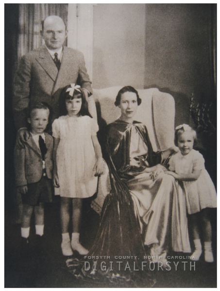 Charles Henry Babcock family, 1937.