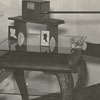 Frank Jones with the silhoutte machine in the John Vogler house in Salem, 1938.