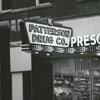 Patterson Drugstore at 112 West Fourth Street, 1958.