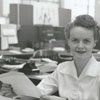 Lil Thompson, Winston-Salem Journal reporter, 1955.