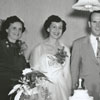 Party for the wedding couple of Nancy Lee Ezzell and Bill East, 1951.