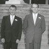 Groomsmen for the wedding of Nancy Lee Ezzell and Bill East, 1951.