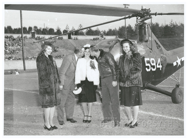 Piedmont Bowl queen and attendants at the Piedmont Bowl football game, 1946.