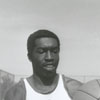 Earl Monroe, basketball player for Winston-Salem State University, 1967.