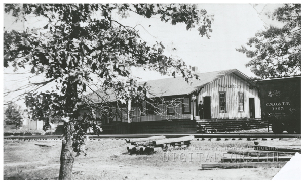 Train depot in Walkertown.