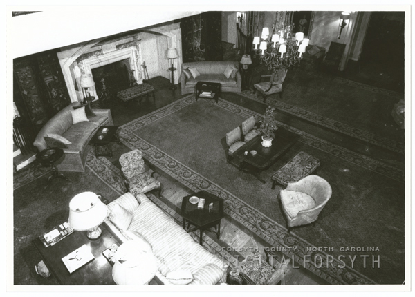 The living room in Reynolda House, 1956.