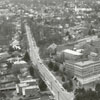 Aerial photo showing Baptist Hospital and Bowman Gray Medical School, and the surrounding area, 1959.