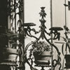 Ornate iron grillwork on the Belo House, 1937.