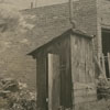 Outhouse at a Main Street house, 1940.