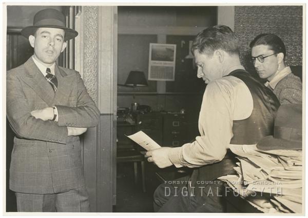 Frank Jones, Art King, and Tom Pitts, 1941.