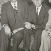 Rev. Gordon Spaugh, Dr. David Thaeler, Frank Jones, and Mrs. Thaeler, 1946.